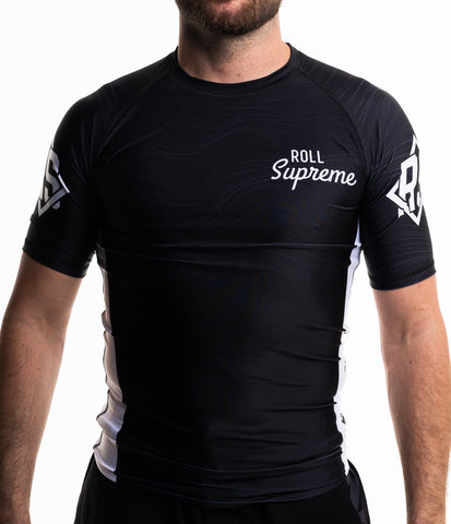 Black Short Sleeve Ranked Rashguard