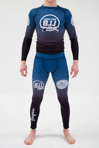 Yoga for BJJ Rashguard - Blue fade