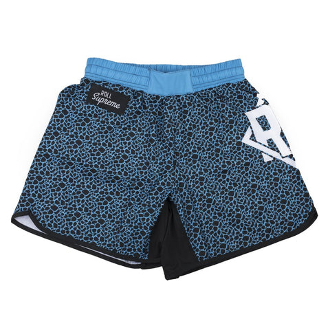 Leopard Shorts - Blue