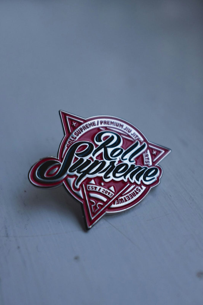 Pin Badge - red and black classic