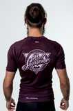 Maroon Vintage Rash Guard