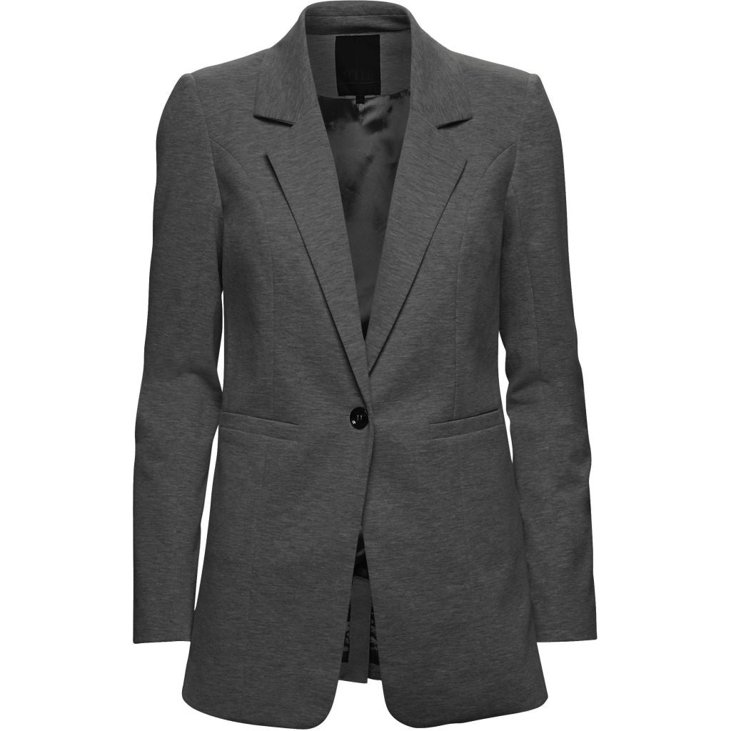 Minus Carmen Long Blazer 127 dark grey melange