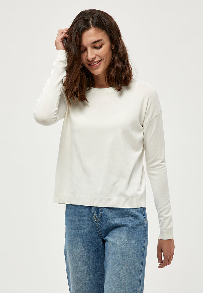 Minus Elne knit Knit 220 broken white