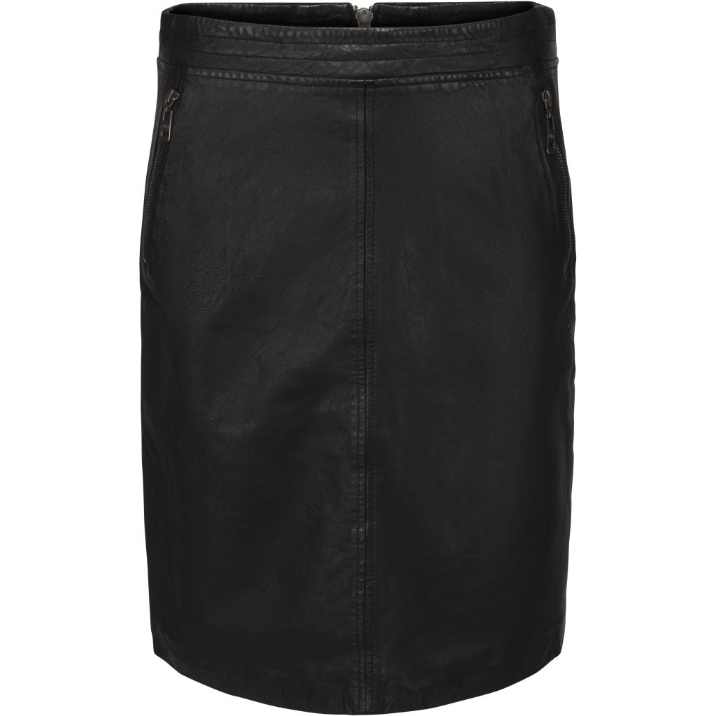 Minus Macie skirt - leather Skirt 100 Black