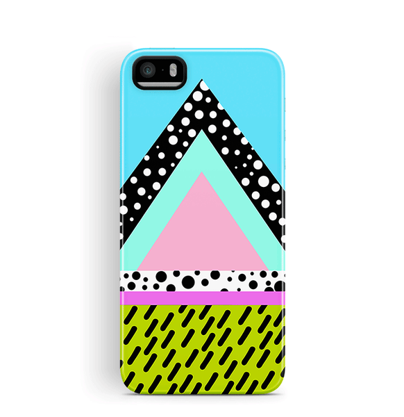 90s iPhone 5 5S SE Case Tough colourful