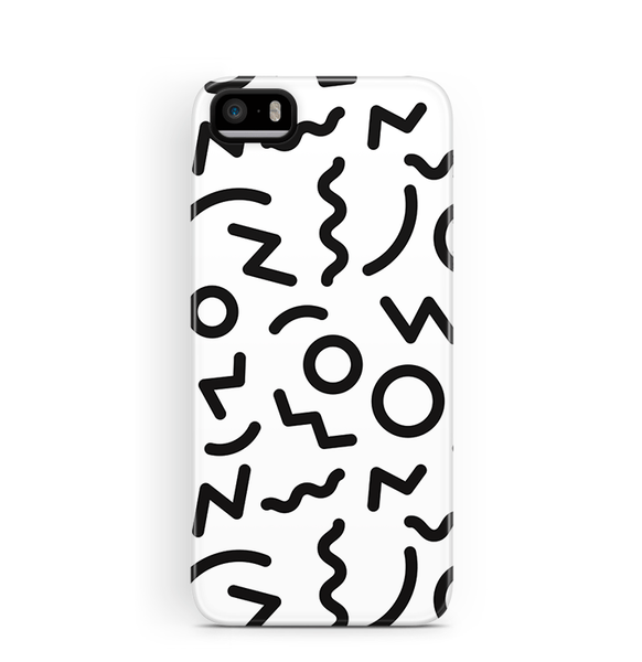 90s Pattern iPhone SE 5 5S Case Tough