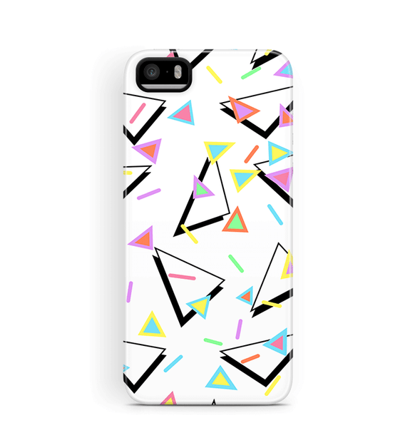 80s iPhone 5S 5 SE Case Triangles Tough