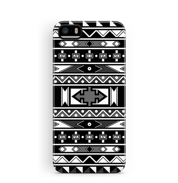 African iPhone 5S 5 SE Case Tough Black