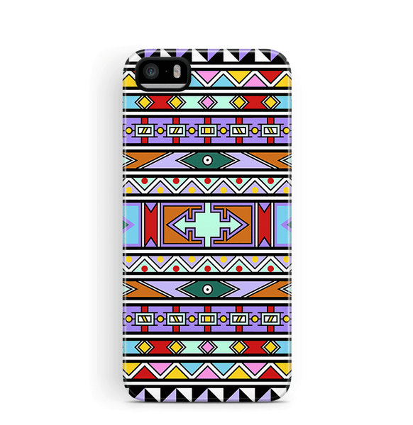 Colourful African iPhone 5S 5 SE Case Tough