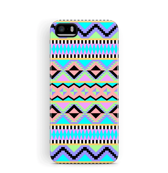 Neon Aztec iPhone 5S 5 SE Case Tough
