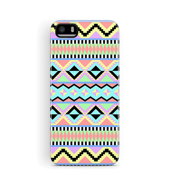 Aztec iPhone 5S 5 SE Case Tough Pastel