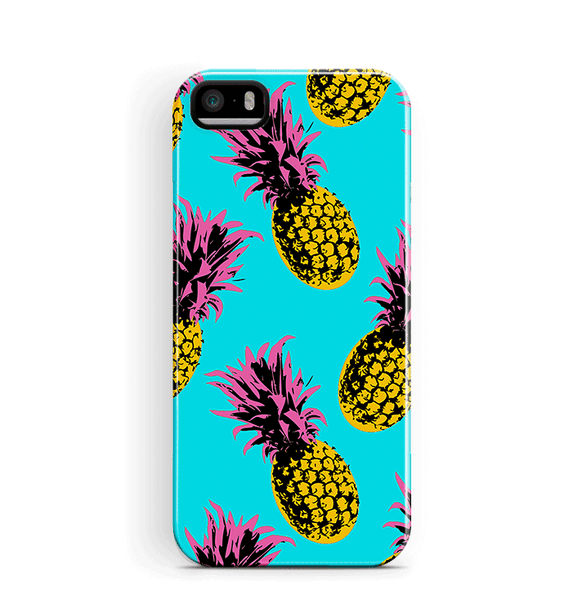 Pineapples iPhone 5 5S SE Case Blue Tough