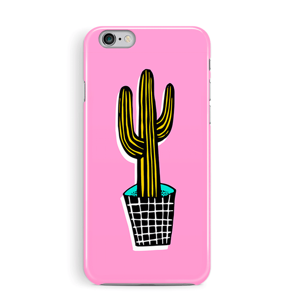 Pink Cactus iPhone 8 and 8 Plus Case