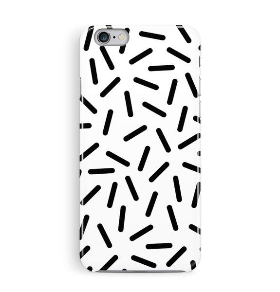 Confetti Black White iPhone 8 and 8 Plus Case