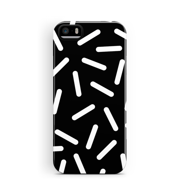 Confetti iPhone SE 5S 5 Case Tough Black