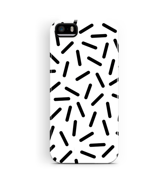White Confetti iPhone 5S 5 SE Case Tough Pattern