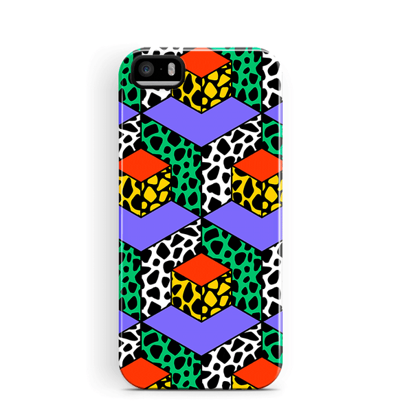 Geometric iPhone 5/5S Se Case Retro Pattern