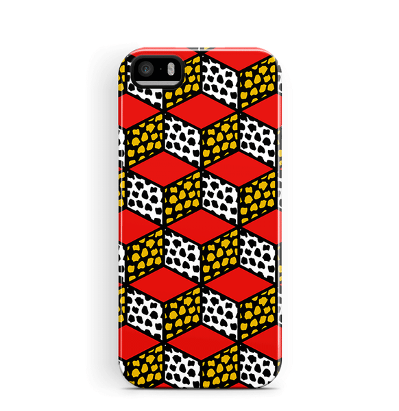 Geometric iPhone 5S SE Case Cubes Pattern