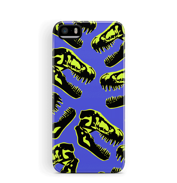 Dino iPhone 5S SE Case Boys Tough Purple