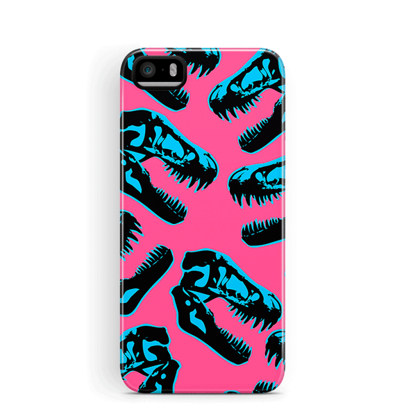 Dinosaur iPhone 5S SE Case Tough Pink Dino