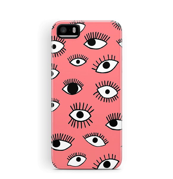 Eye iPhone 5S SE Case Tough in Coral