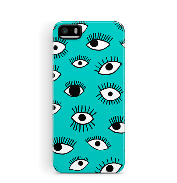 Eyes iPhone 5S SE Case Tough in Teal