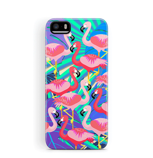 Flamingo iPhone 5S 5 SE Case Tough