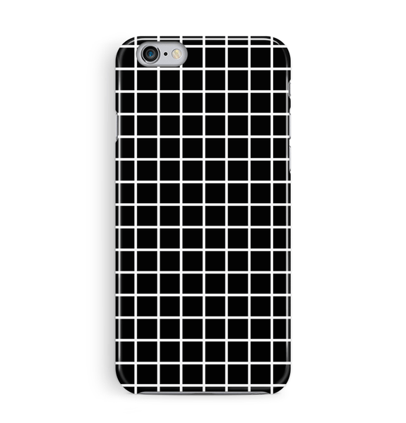 Black Grid iPhone 8 Case Graph Paper