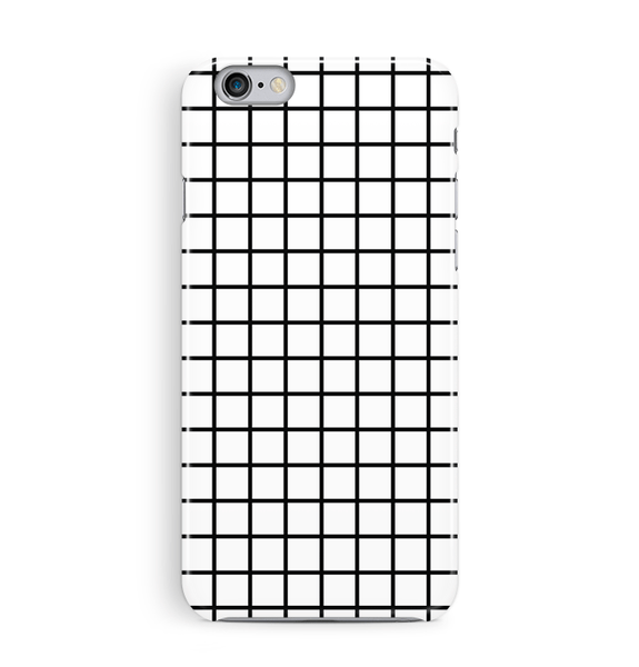 White Grid iPhone and Samsung Case
