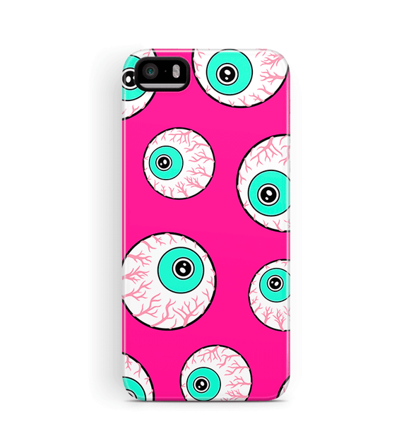 Pink Googly Eyes iPhone 5S SE Case