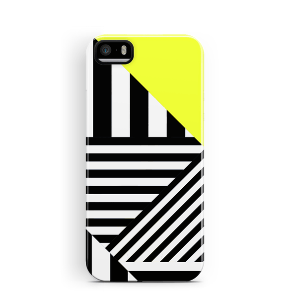Stripey iPhone SE 5/5S Case Yellow Black Stripes