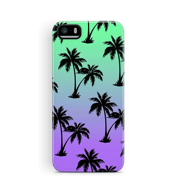 Palm Tree iPhone 5 5S SE Case Tough in Blues
