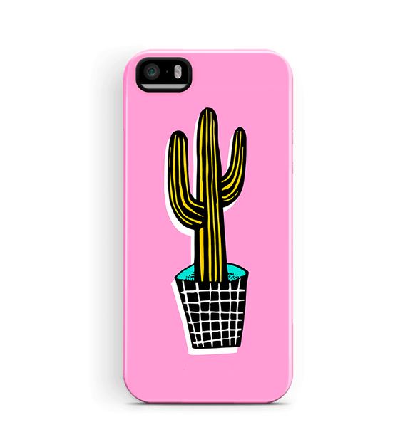 Cactus iPhone 5S SE 5 Case Tough in Pink