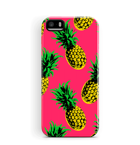 Pineapple iPhone 5 5S SE Case Tough Pink