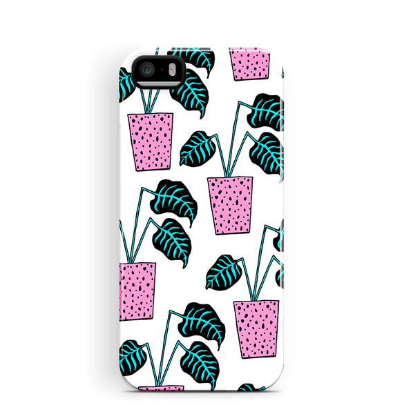 Plant Pattern iPhone 5 5S SE Case Protective Tough