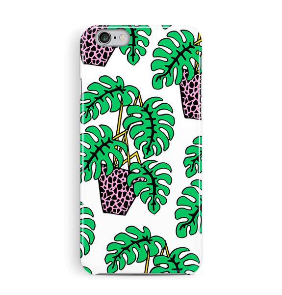 Pot Plant White iPhone and Samsung Case