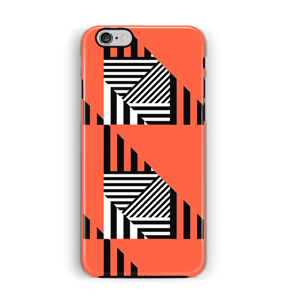 Orange iPhone 6 6S Case Tough Stripes