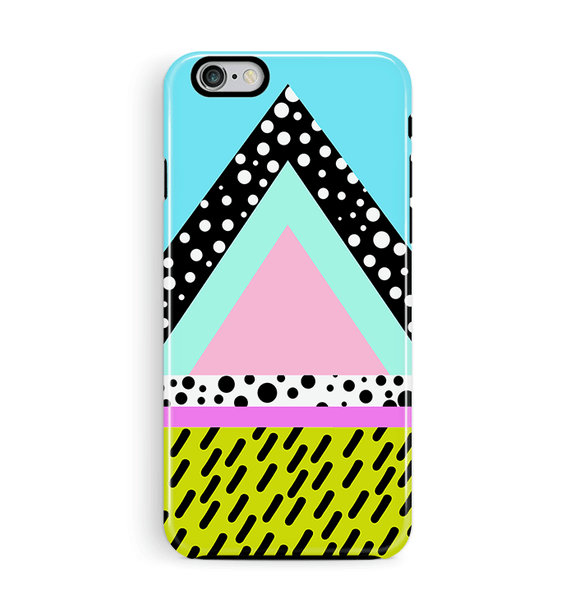 90s Pattern iPhone 8 case 8 Plus Pyramid 80s