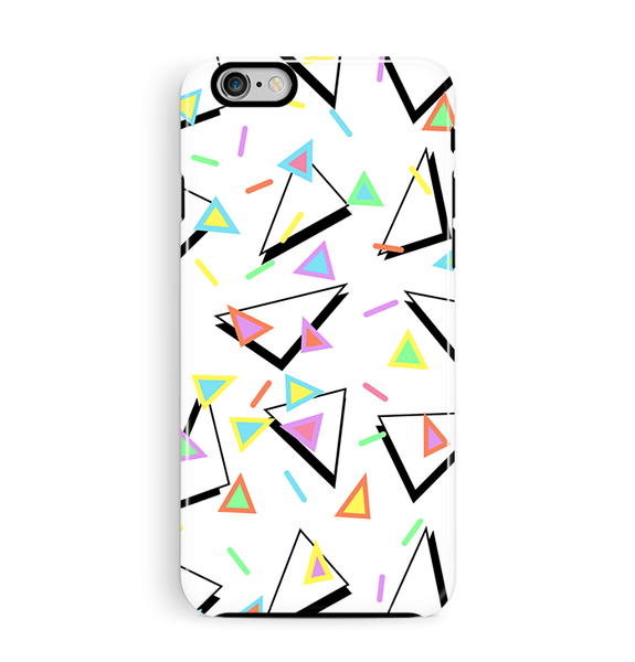 80s iPhone 6 6S Case Triangles Tough