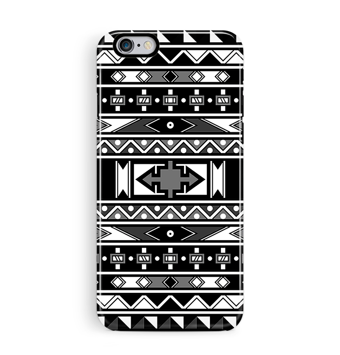 African Art Iphone 6 6s Case Tough Black White Pattern Party