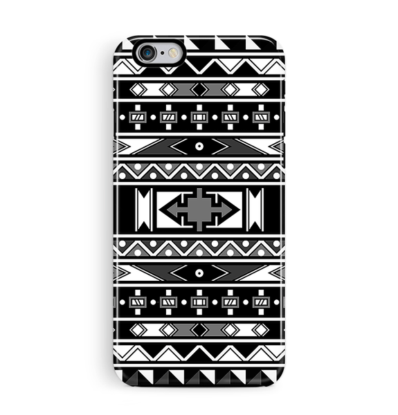 African Art iPhone 6 6S Case Tough Black & White