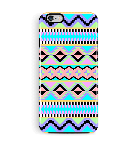 Neon Aztec iPhone 6 6S Case Tough