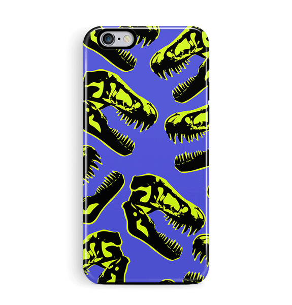 Dinosaur Skull iPhone 8 Case in Blue