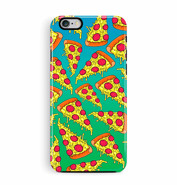 Pizza iPhone 6 6S Case Tough in Blue