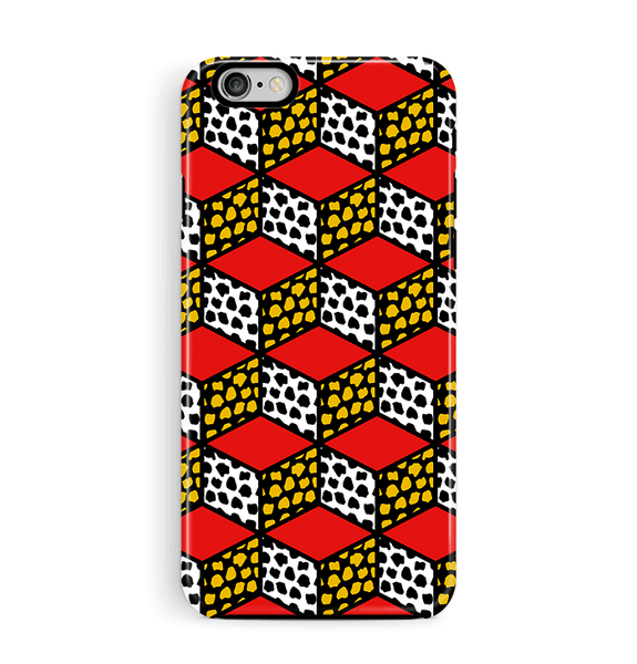 Geometric iPhone 6 6S Case Cube Pattern