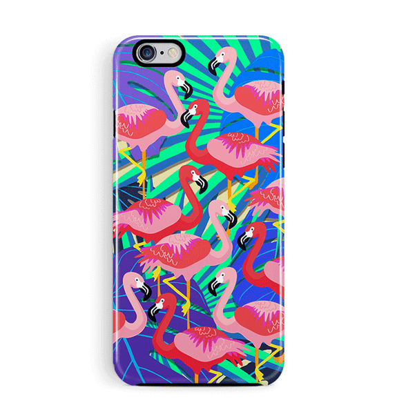 Beautiful Flamingo iPhone 8 Case Jungle