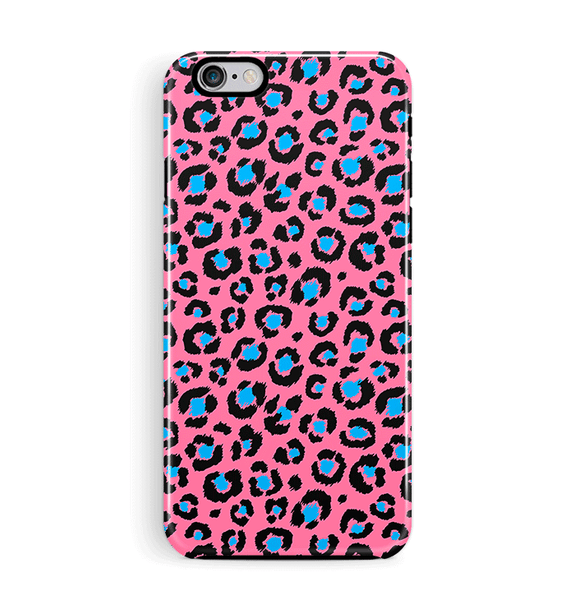 Pink Leopard print iPhone and Samsung Case