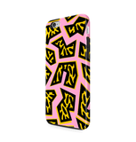 African Art iPhone 6 6S Case Pink & Yellow