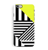 Stripey iPhone 6 6S Case Yellow and Black