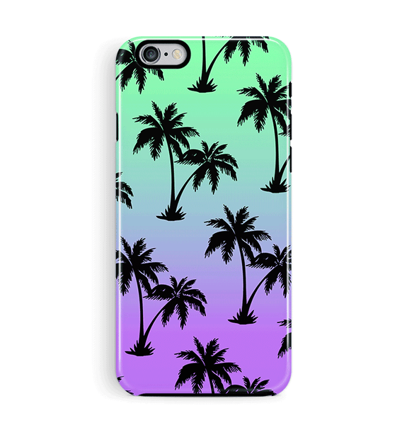 Blue Palm Tree iPhone 8 Case Miami Beach
